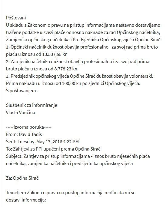 nacelnik SIRAČ-PLAĆA