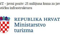 Objavljen javni poziv: 25 milijuna kuna za javnu turističku infrastrukturu