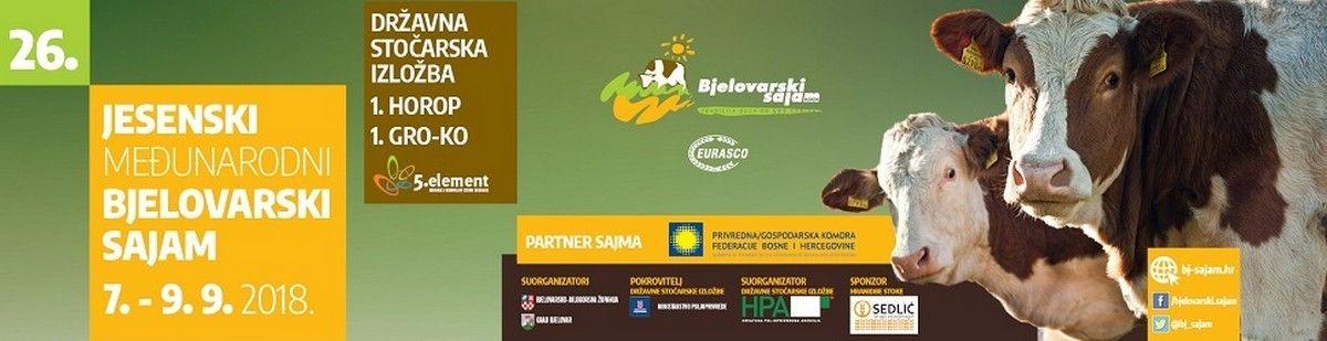 Najveća sajamska manifestacija održat će se u rujnu: 26. Jesenski međunarodni bjelovarski sajam