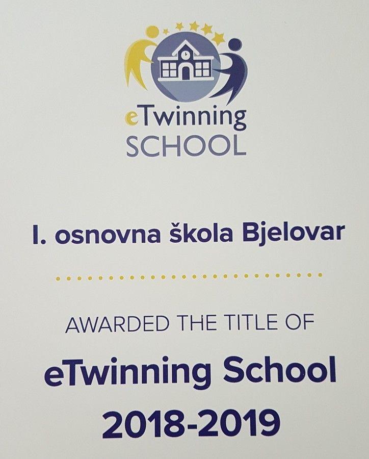 I. osnovna škola Bjelovar uspješno nastavlja tradiciju provođenja europskih projekata
