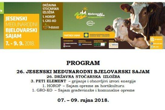 Sve je spremno za početak najveće sajamske manifestacije 26. Jesenskog međunarodnog bjelovarskog sajma u Gudovcu