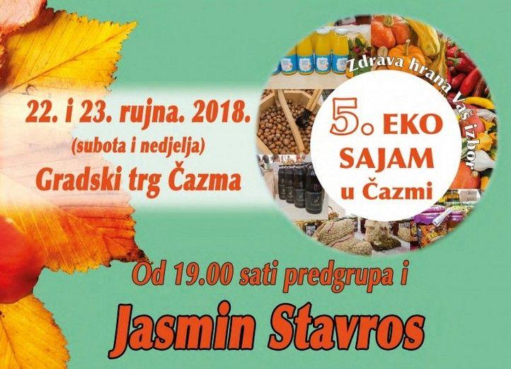 """Čazma - Eko sajam 22.-23.09.2018. """"Zdrava hrana vaš izbor"""""""