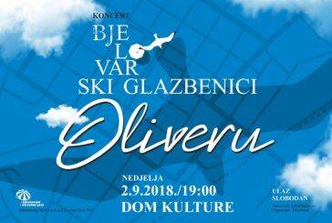Koncert u Domu kulture: Bjelovarski glazbenici Oliveru