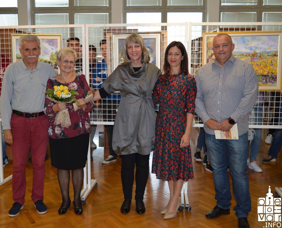 Otvorena izložba likovne pedagoginje Mire Boroš u Komercijalnoj i trgovačkoj školi Bjelovar