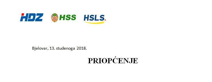 Županijski oporbeni Klub vijećnika HDZ-a, HSS-a i HSLS-a reagirao na sastanak županijske koalicije koja čini većinu u ŽS BBŽ-a