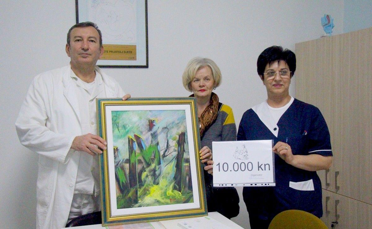 Bjelovarska slikarica Anđelka Papić uručila donaciju Odjelu rodilišta Opće bolnice Bjelovar