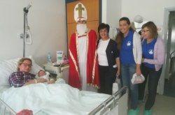 Dječji odjel i odjel rodilišta Opće bolnice Bjelovar posjetio Sveti Nikola