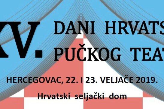 Jubilarni 25. Dani hrvatskog pučkog teatra u Hercegovcu