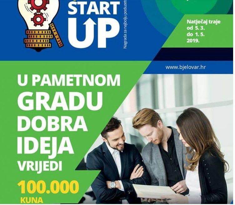 Grad Bjelovar: Poziv za sudjelovanje - dodjela nagrade za najbolji Startup 2019.