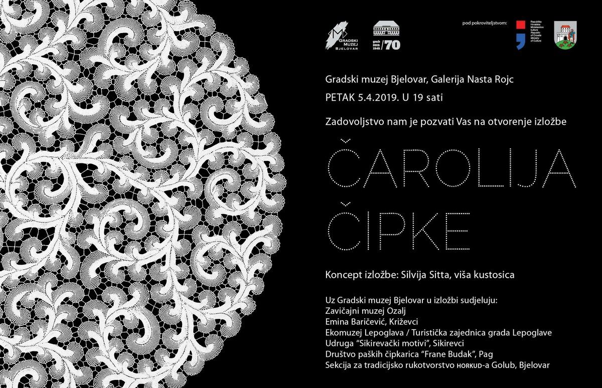 Gradski muzej Bjelovar: izložba ČAROLIJA ČIPKE
