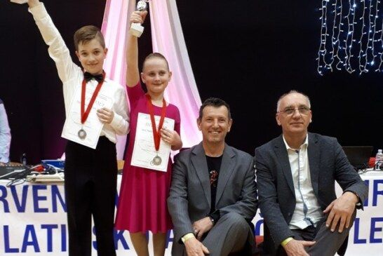 Bjelovarski plesni par Filip Dujmović i Sara Haistor VICE PRVACI