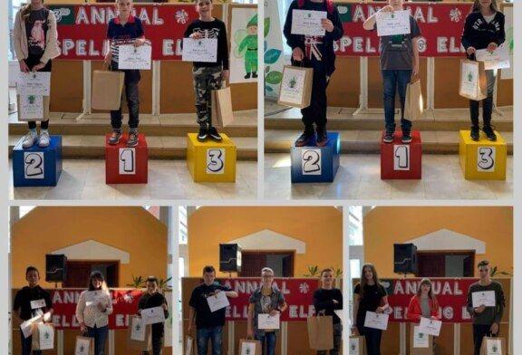 """POGLEDAJTE POBJEDNIKE drugog županijskog natjecanja u sricanju """"Spelling ELF"""""""