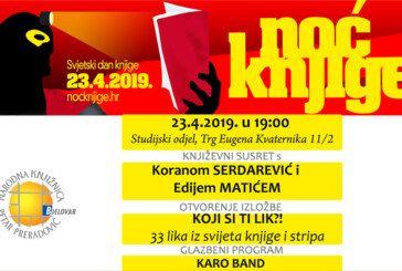 NOĆ KNJIGE: književni susreti, izložbe i glazbeni program na Studijskom odjelu bjelovarske knjižnice