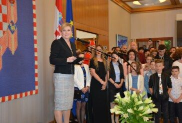 Predsjednica Kolinda Grabar-Kitarović primila najuspješnije učenike naše županije