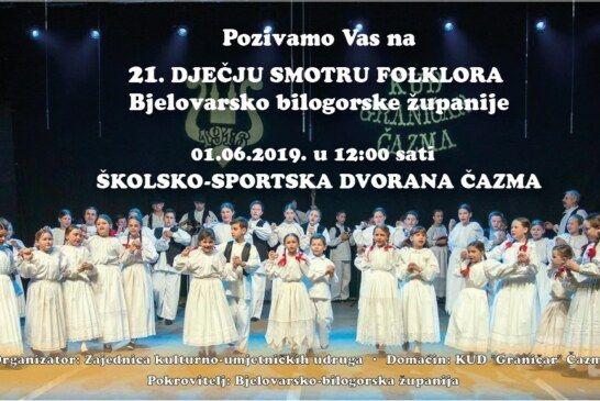 21. Smotra dječjeg folklora Bjelovarsko-bilogorske županije