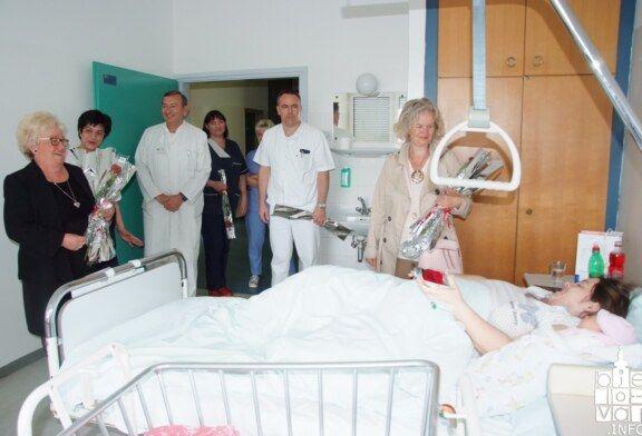 Udruga žena Srce Bilogore obilježila MAJČIN DAN darivanjem ruža rodiljama bjelovarske Opće bolnice