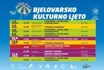 Bjelovarsko kulturno ljeto 2019 – Program za KOLOVOZ