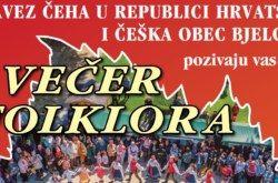DOĐITE na Večer folklora u organizaciji Češke obec Bjelovar