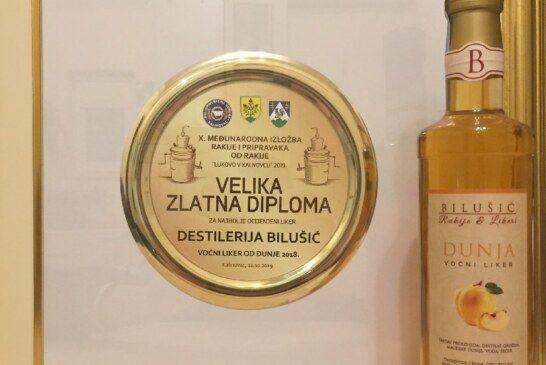 Destilerija Bilušić osvojila VELIKO ZLATO za rakiju od dunje