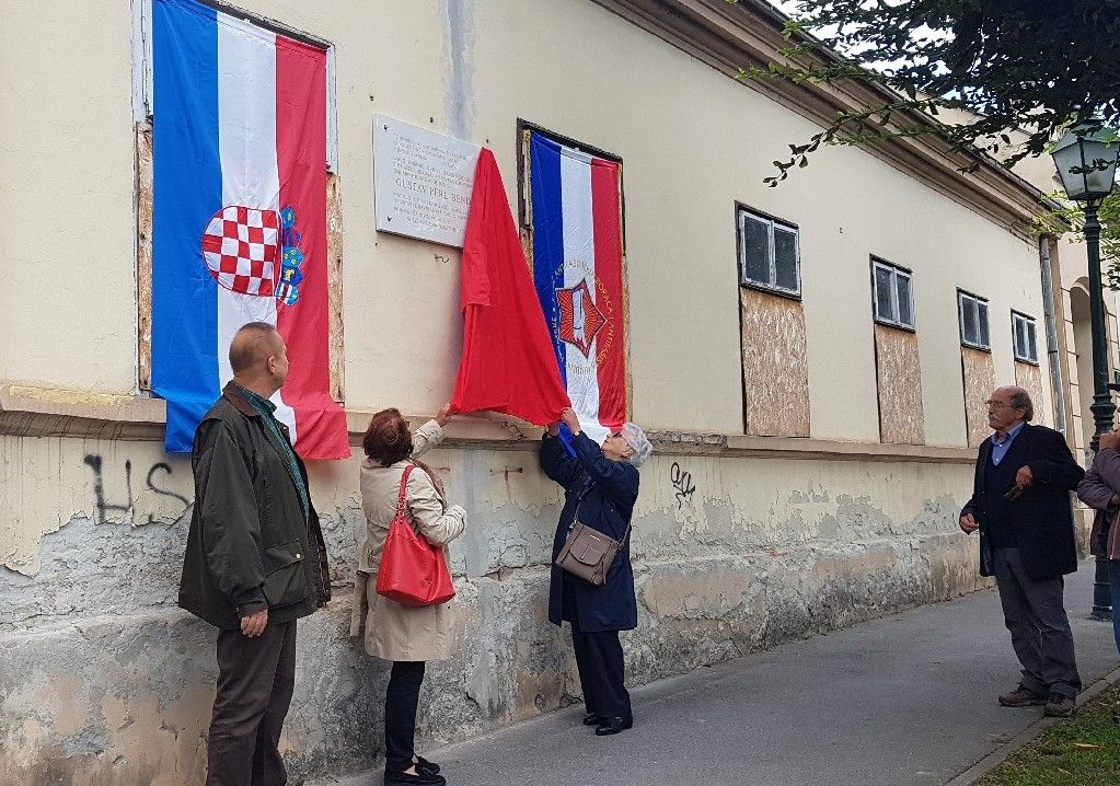 (FOTO) Bjelovar: Otkrivena nova spomen-ploča antifašistu Gustavu Perl Bendi