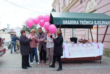 Bjelovarska udruga žena liječenih od karcinoma dojke obilježila DAN RUŽIČASTE VRPCE