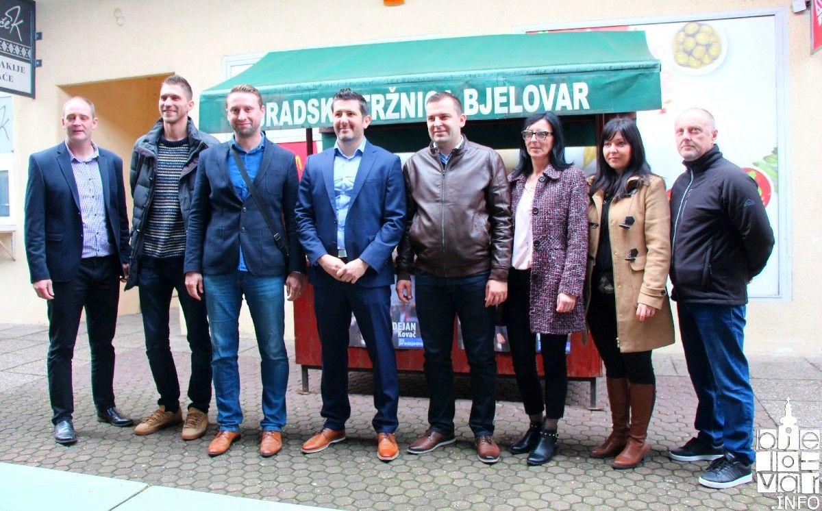 Nezavisni kandidat za predsjednika RH Dejan Kovač u Bjelovaru: Prikupljanje potpisa podržao predsjednik HSLS-a Dario Hrebak