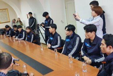 """Korejski taekwondo tim na prijemu u Gradu Bjelovaru UOČI večerašnjeg """"Korea demo showa"""""""