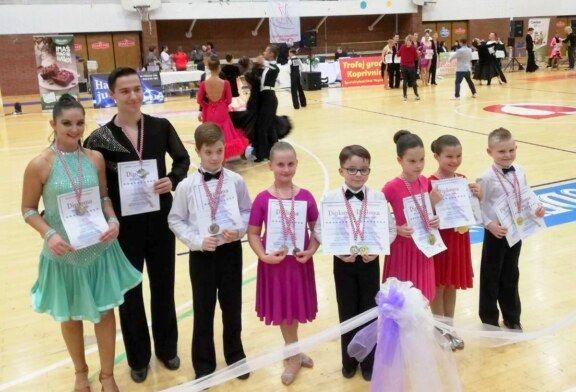 Naši mladi natjecatelji Plesnog kluba H-8 na natjecanju u Koprivnici osvojili 8 zlatnih, 4 srebrne i 8 brončanih medalja