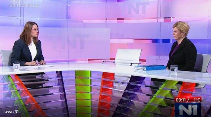 Na sučeljavanje na N1 televiziji pozvana oba kandidata: U studio došla samo kandidatkinja HDZ-a Kolinda Grabar Kitarović