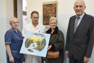 Umjetnica Anđela Papić donirala slike Odjelu oftalmologije OB Bjelovar – bjelovar.info