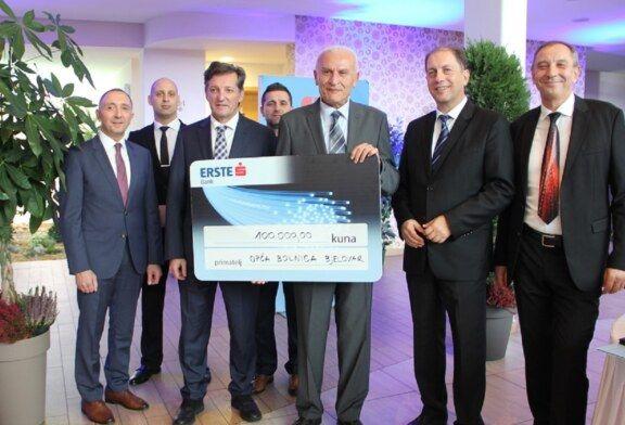 Erste banka Općoj bolnici Bjelovar donirala 100.000 kuna