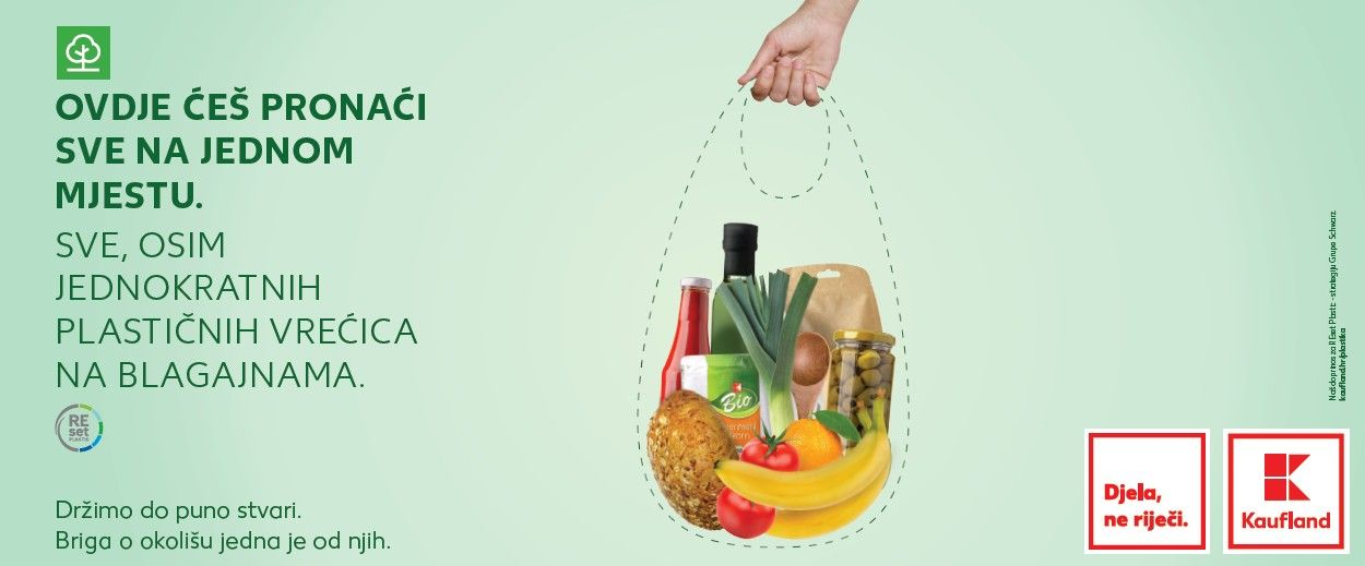 Kaufland ne prodaje više plastične vrećice: Možete kupiti platnenu ili ponijeti svoju vrećicu