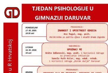 USKORO počinje Tjedan psihologije u Gimnaziji Daruvar: Zanimljiva predavanja i radionice
