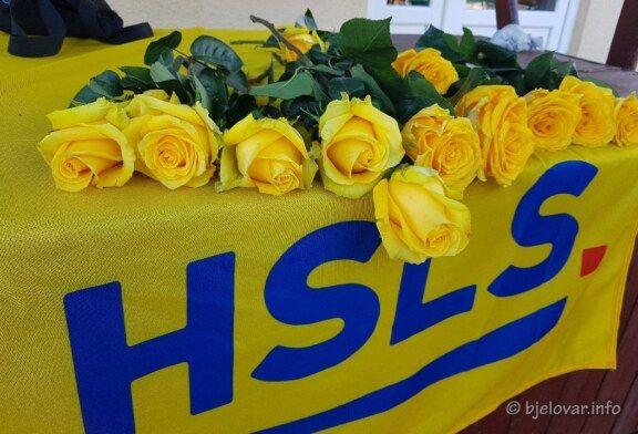 HSLS za DAN ŽENA dijelio žute ruže Bjelovarčankama