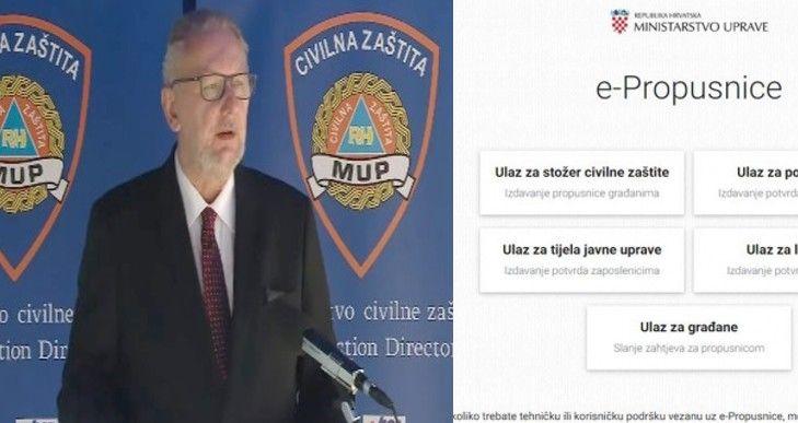 Davor Božinović e propusnice