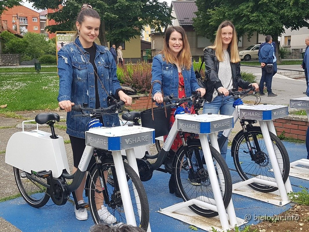 Grad Bjelovar - Cijena e-bicikla pet kuna po satu - Morate se registrirati u sustav za evidenciju