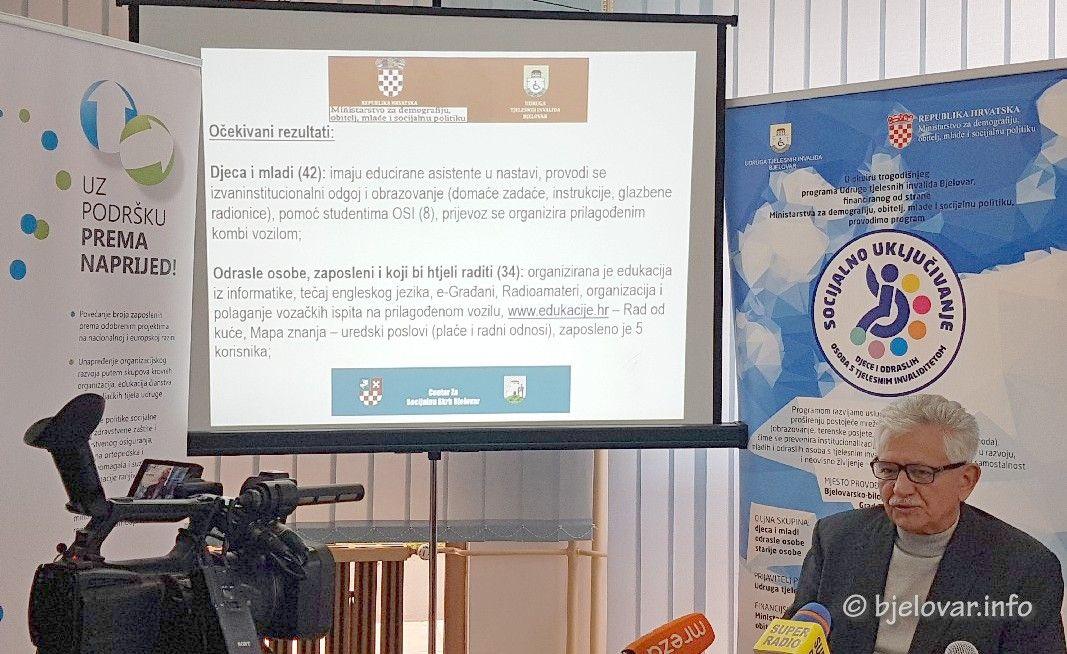 Udruga tjelesnih invalida Bjelovar iznijela postignute rezultate u provedbi trogodišnjeg programa