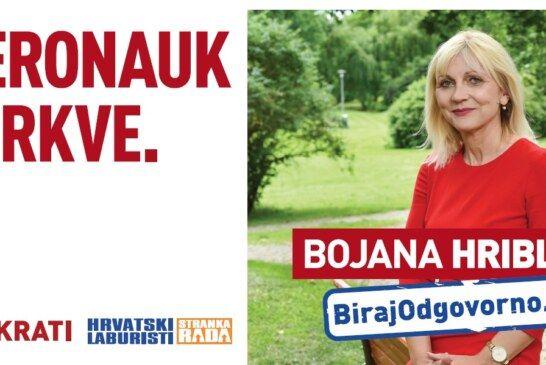 Bojana Hribljan JEDINA ŽENA NOSITELJICA LISTE u II. izbornoj jedinici koja će sigurno biti VAŠ GLAS u Saboru
