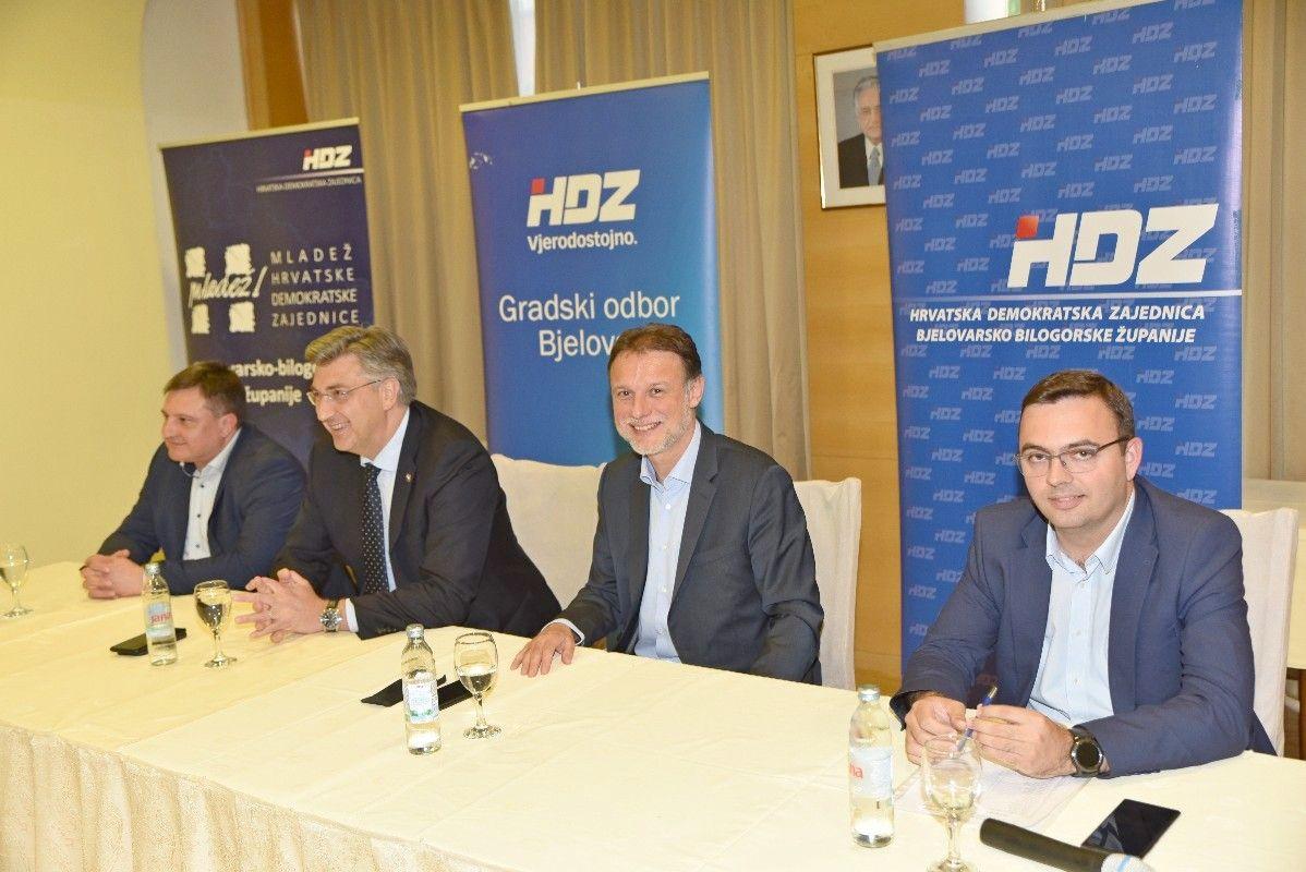 Plenković i Jandroković u Bjelovaru: Poduprijet ćemo projekt izgradnje nove Opće bolnice Bjelovar