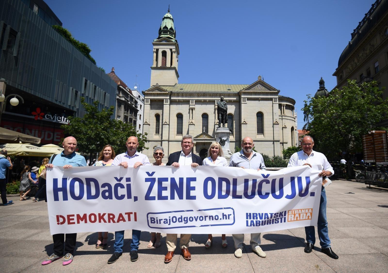 Demokrati i Hrvatski laburisti: HODači, žene odlučuju