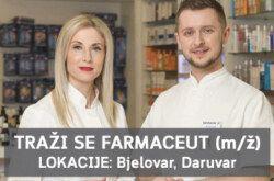 Prilika za karijeru: TRAŽI SE FARMACEUT – BJELOVAR, DARUVAR
