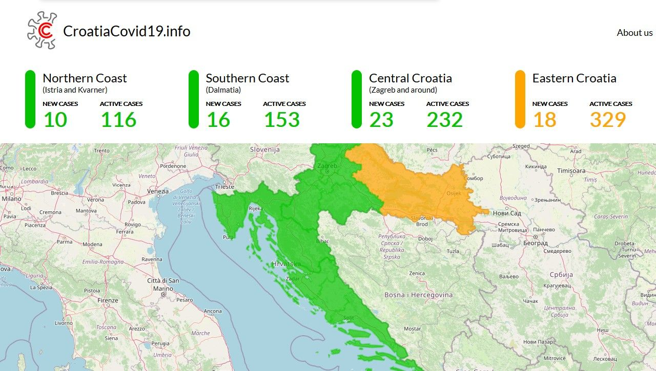 """ZA TURISTE – Web stranica """"Croatia Covid 19"""" pomaže pri planiranju odmora u Hrvatskoj"""