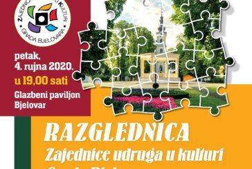 """Pred nama je kulturni program """"Razglednica Zajednice udruga u kulturi Grada Bjelovara"""" – DOĐITE I UŽIVAJTE"""