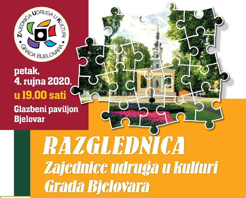 """Pred nama je kulturni program """"Razglednica Zajednice udruga u kulturi Grada Bjelovara"""" - DOĐITE I UŽIVAJTE"""