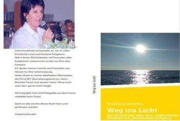 Bjelovarska spisateljica Snježana Kovačić postaje poznata i izvan Hrvatske – Njezin roman PUT U SVJETLOST bit će predstavljen u Beču i Frankfurtu