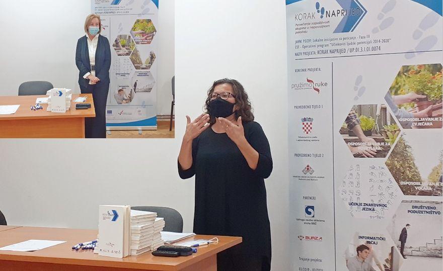Nastavlja se EU projekt Korak naprijed s radionicama hrvatskog znakovnog jezika