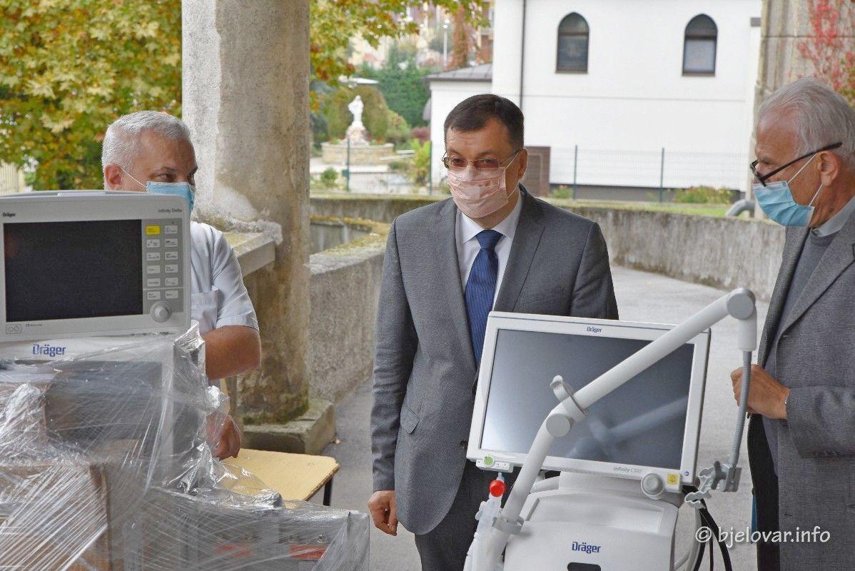 ŽUPANIJA nastavlja ulaganje u medicinsku opremu - Bolnica sada raspolaže sa 18 respiratora i 70 kreveta