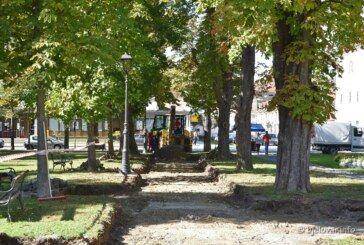 Grad Bjelovar nastavlja s obnovom bjelovarskog parka – Staze u parku bit će završene do kraja godine