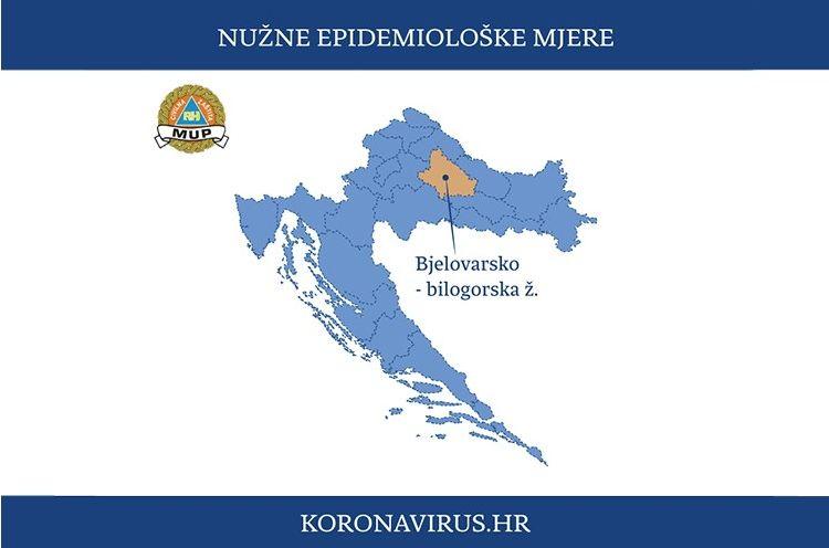 NACIONALNI STOŽER DONIO ODLUKU: Nužne epidemiološke mjere za područje Grada Bjelovara i Bjelovarsko-bilogorsku županiju