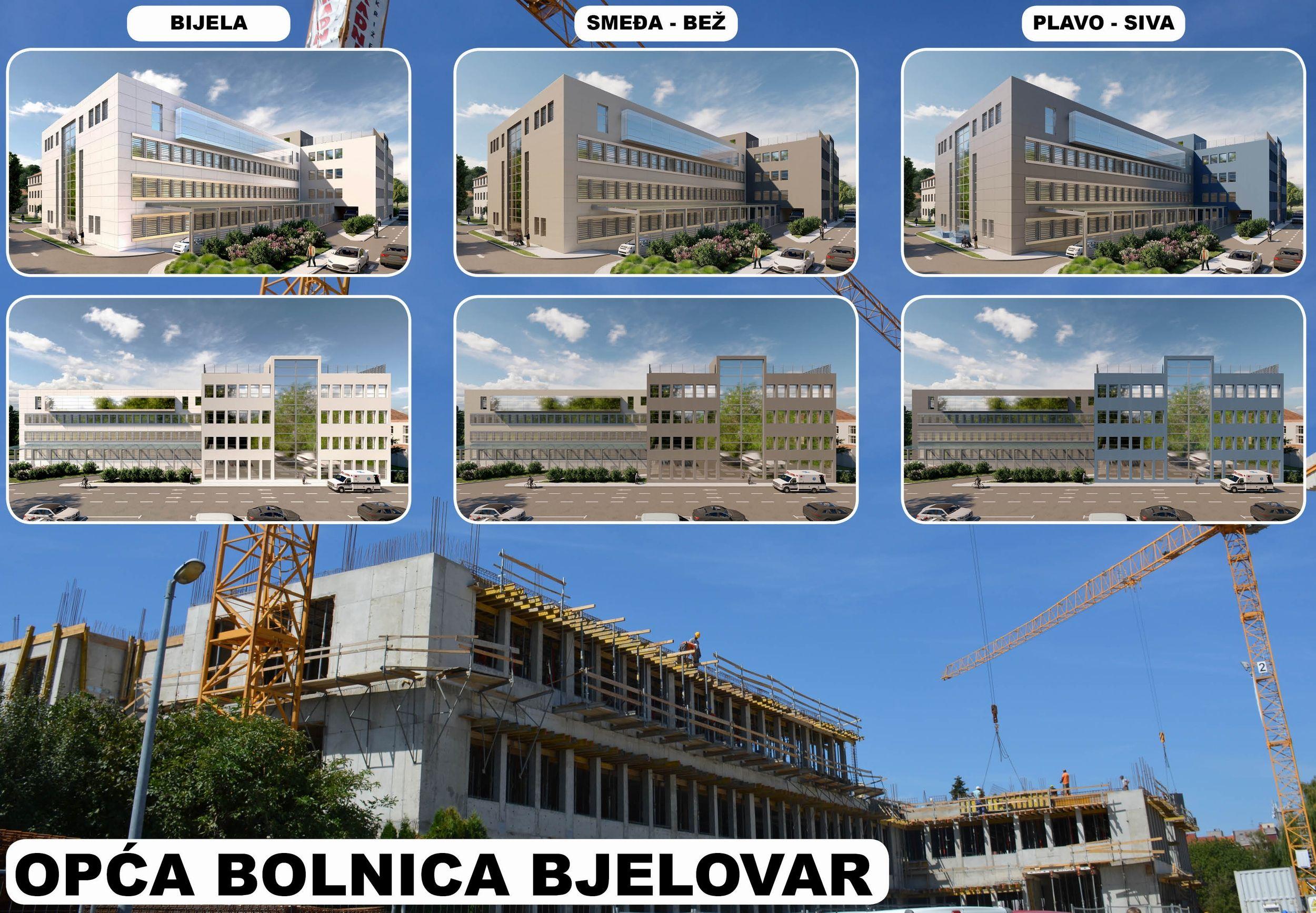 Odaberite izgled NOVE bjelovarske bolnice - Bijela, smeđa ili plava, na Vama je da odlučite!